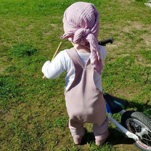 French Terry - dünner Sweatshirtstoff - helles Altrosa