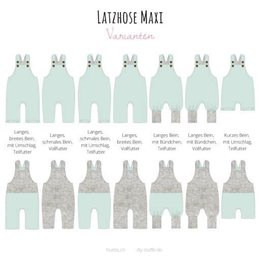 Latzhose Maxi Varianten