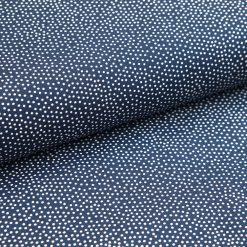 Popeline Marineblau mit weißen Puenktchen
