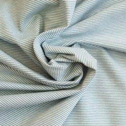 Single Jersey Altmint Weiß 1mm gestreift