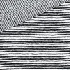 Single Jersey - Schwarz / Weiß 1 mm gestreift