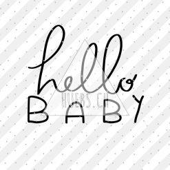 Plottermotiv - hello baby