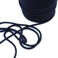 Baumwollkordel - 6 mm - schwarz