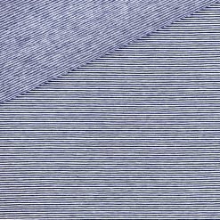 Single Jersey - Dunkelblau / Weiß 1 mm gestreift