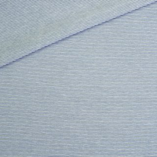 Single Jersey Dusty Zartblau Weiß 1mm gestreift