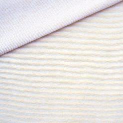 Single Jersey Senfgelb Weiß Mini-Streifen