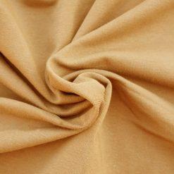 French Terry dünner Sweatshirtstoff Ockergelb