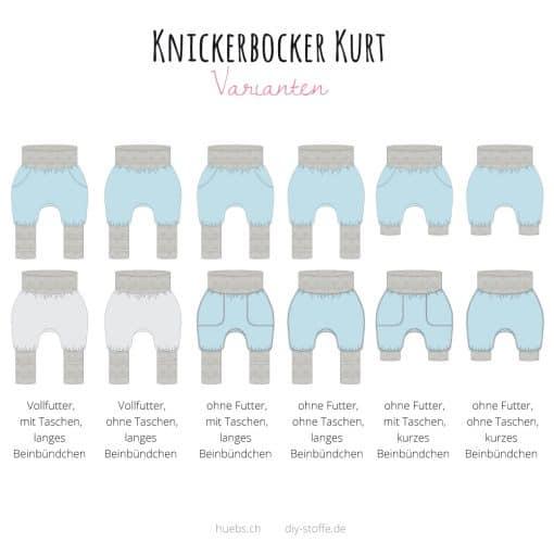 Knickerbocker Kurt Varianten