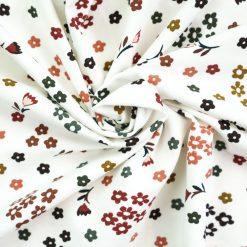 Singel Jersey Cremeweiß mit Herbstblumen