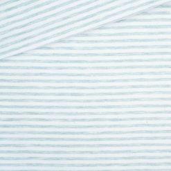 Single Jersey Kuschelweich Altmint Cremeweiß 4mm gestreift