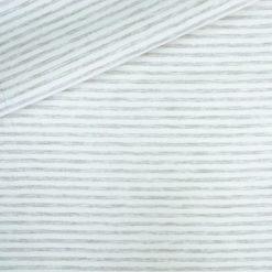 Single Jersey - Kuschelweich - Beige/ Cremeweiß 4 mm gestreift