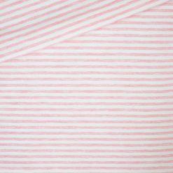 Single Jersey - Kuschelweich - Grau/ Cremeweiß 4 mm gestreift