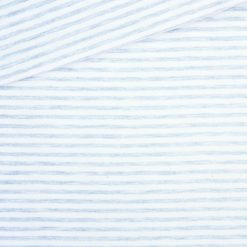 Single Jersey Kuschelweich Taubenblau Cremeweiß 4mm gestreift