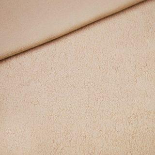 Baumwollfleece Beige