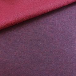 French Terry Kuschelsweat Bordeaux meliert