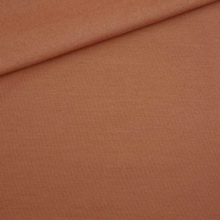 French Terry leichter Kuschelsweat Helles Rost-Orange