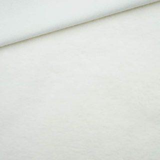 Leichter Baumwollfleece Cremeweiß