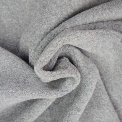 Leichter Baumwollfleece Mittelgrau meliert