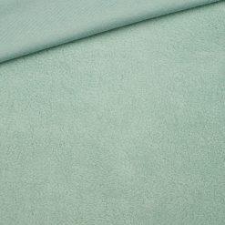 Leichter Baumwollfleece Helles Altmintgrün
