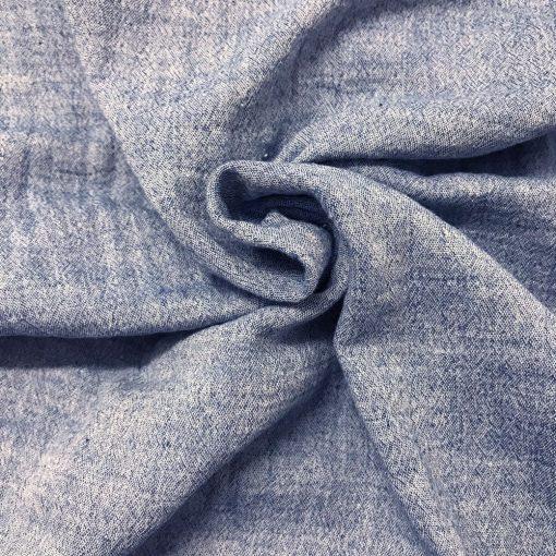 Musselin meliert Jeansblau