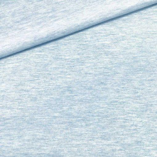 Single Jersey Kuschelweich Taubenblau meliert