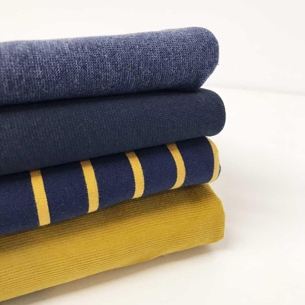 Bündchen - Dunkles Smoky Jeansblau meliert | DIY Stoffe