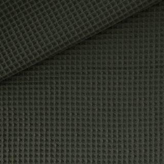 Waffelpique 2 Dunkles Khaki