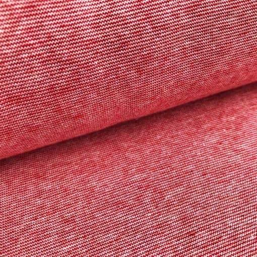 Bündchen - Rot/Weiß Melange-Streifen