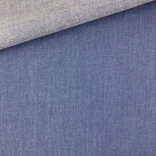Baumwoll-Chambray - Jeansblau