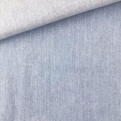 Baumwoll-Chambray - Helles Jeansblau