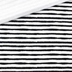 Single Jersey - Cremeweiß mit Pinselstreifen