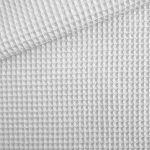 Waffelpique Weiß
