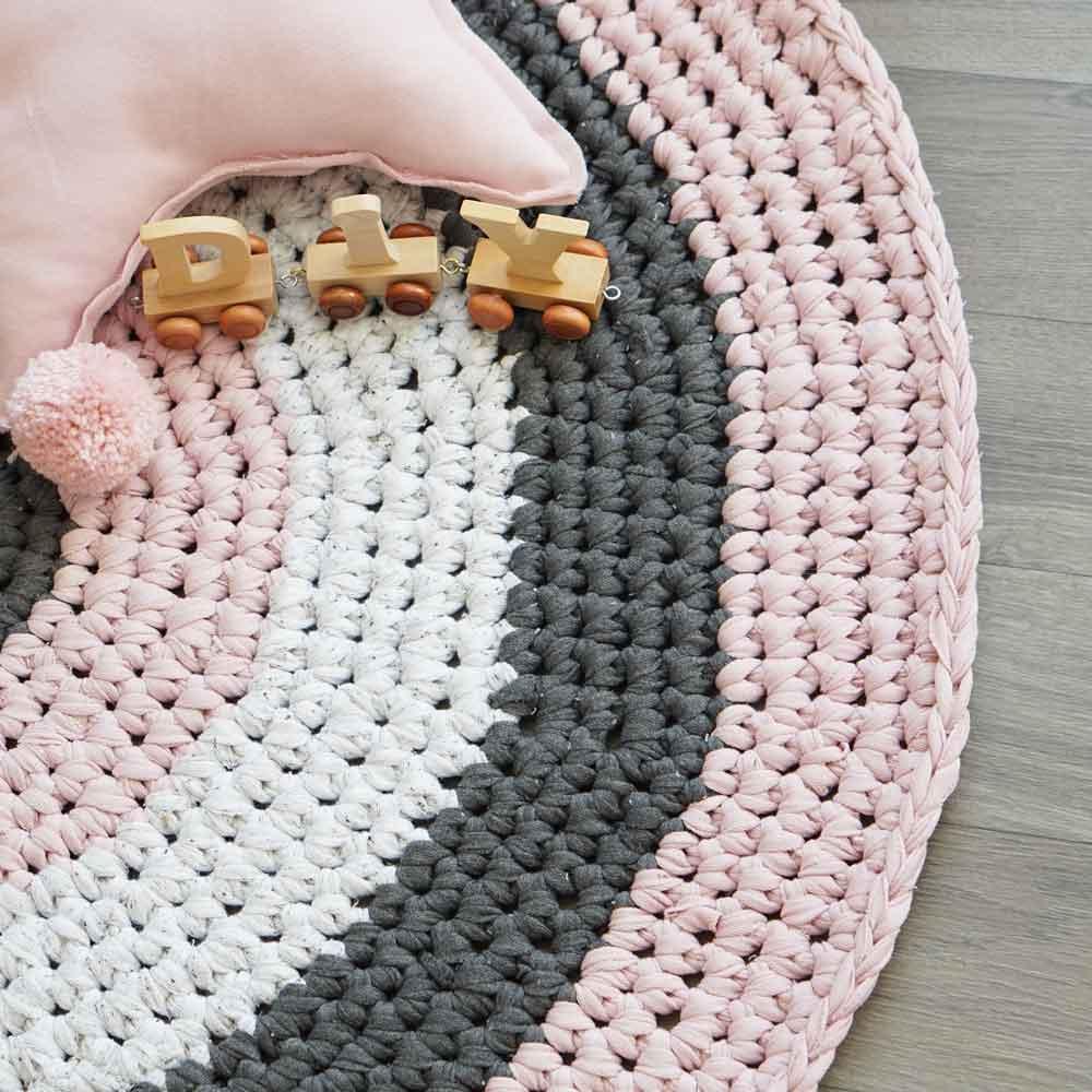 Sehr Gehäkelter runder Teppich - Anleitung | DIY Stoffe HP38