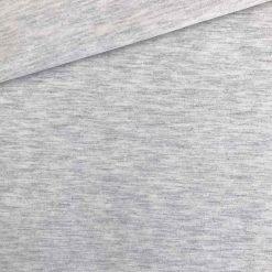Single Jersey - Weiss/Grau meliert