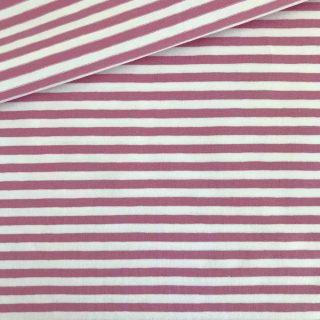 Single Jersey Altrosa-Weiss 5mm Ringel