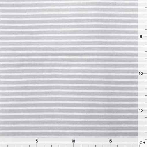 Single Jersey - Hellgrau mit 2 mm weißen Streifen