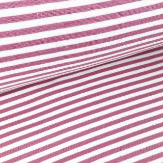Bündchen - Altrosa/Weiss 5mm Ringel