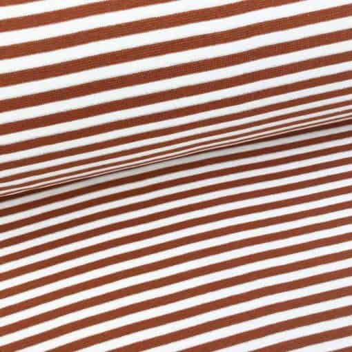 Bündchen - Kupfer/Weiss 5mm Ringel