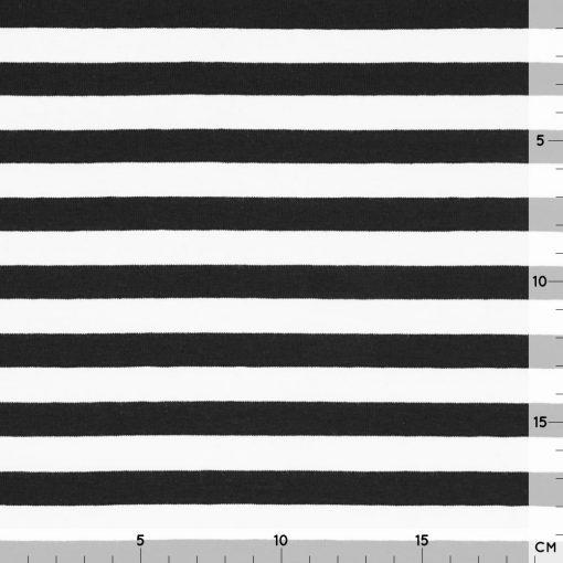 Single Jersey – Schwarz/Weiß gestreift