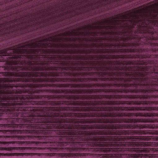 Kuschelrip Jersey - Dunkles Fuchsia Beere