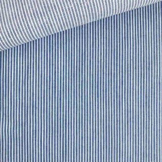 Leichter Denim - Jeansblau Ministreifen