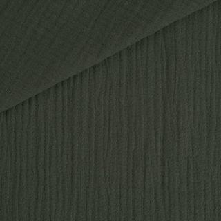Musselin - Dunkles Waldgrün