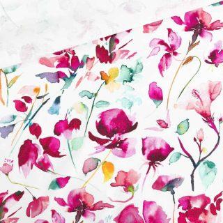 Single Jersey - Weiß Blütenzauber