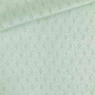 Pointoille Jersey - Pastell-Mintgrün