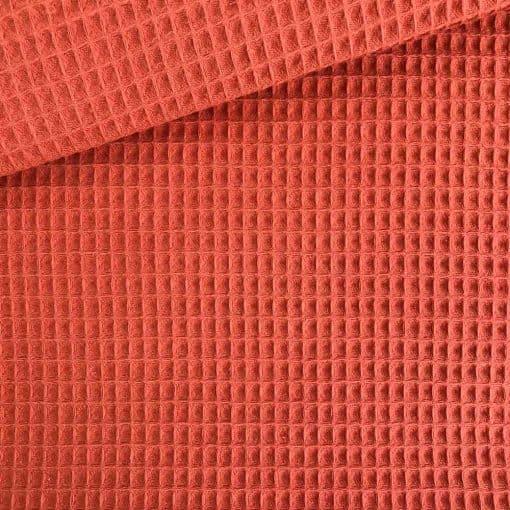 Waffelpique - Rost-Orange