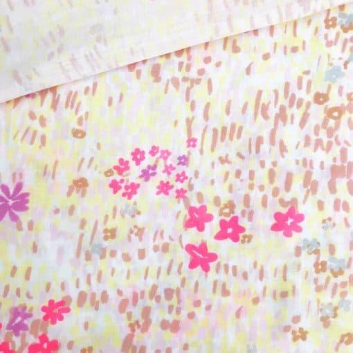 Musselin - Blush paited Flowers