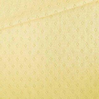 Pointoille Jersey - Dusty Vanillegelb