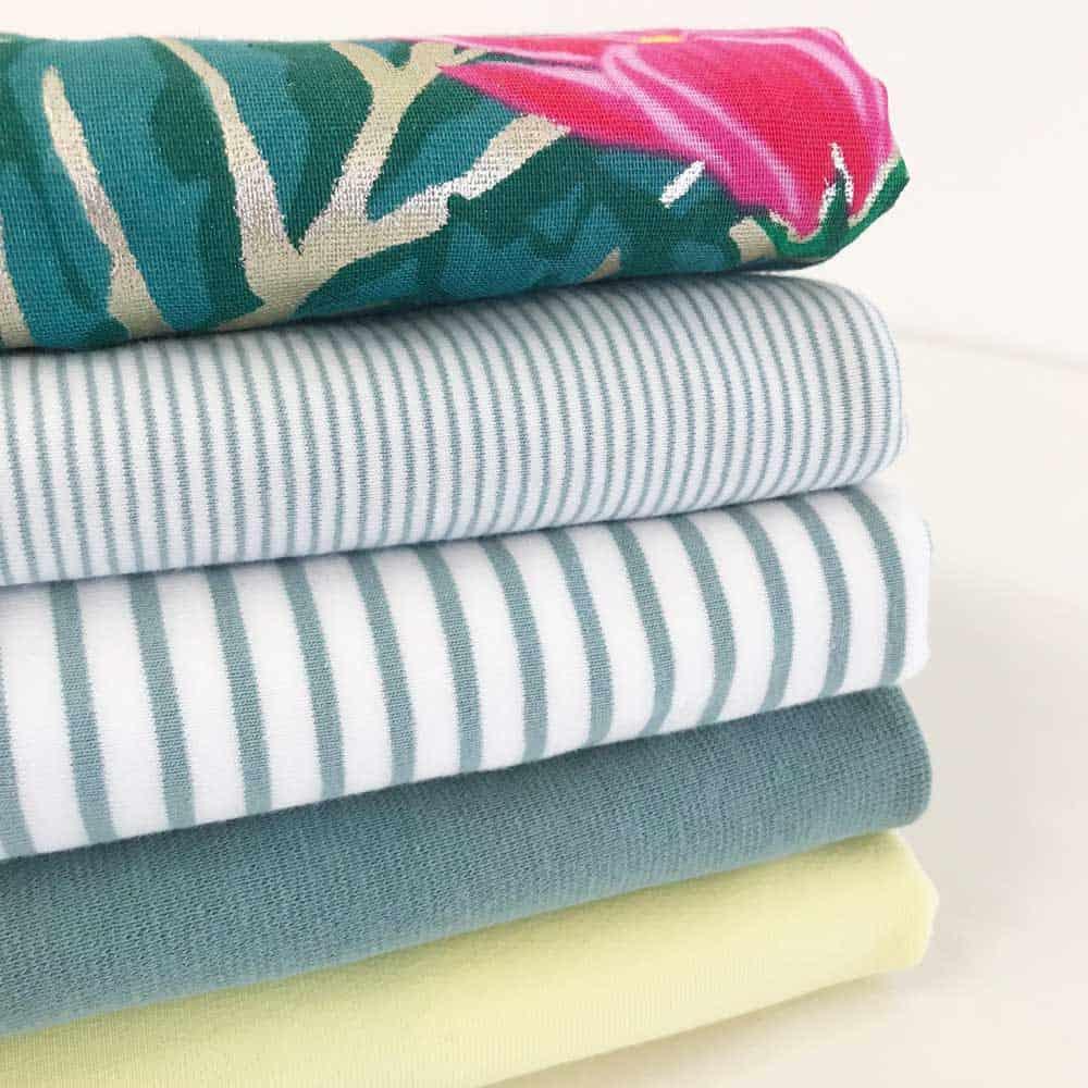Single Jersey - Weiß mit 2 mm altmintgrünen Streifen | DIY ...