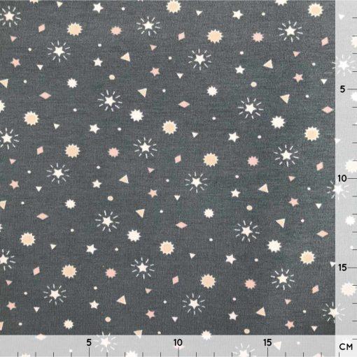 Single Jersey - Dunkles Grau - Sternenzauber