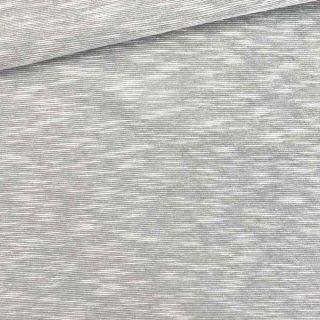 Slub Jersey - Mittleres Silbergrau meliert